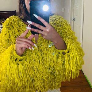 Yellow neon cardigan